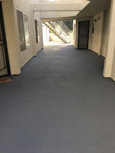 Apartment Building Walkway After