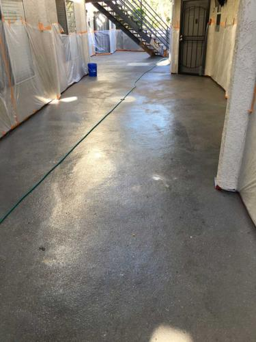 Apartment Building Walkway Prep Stage