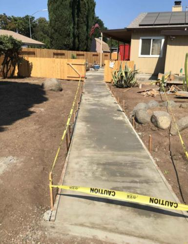 After Concrete Walkway