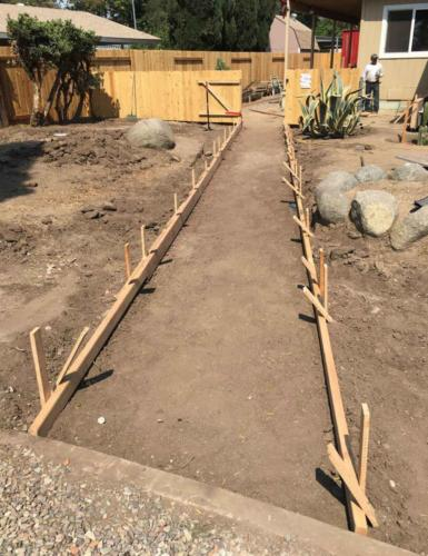 Before Concrete Walkway